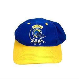 Vintage st luis Rams nfl snap back hat